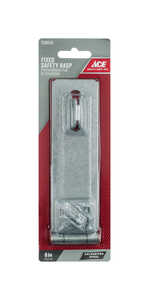 Ace  Galvanized  Steel  6 in. L Fixed Staple Safety Hasp