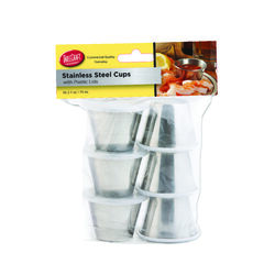 Tablecraft  Silver  ABS/Stainless Steel  Dipping Cups w/Lids