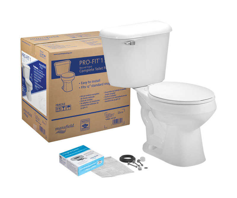 Mansfield  Alto Pro-Fit 1  Round  Complete Toilet  1.6 gal. White