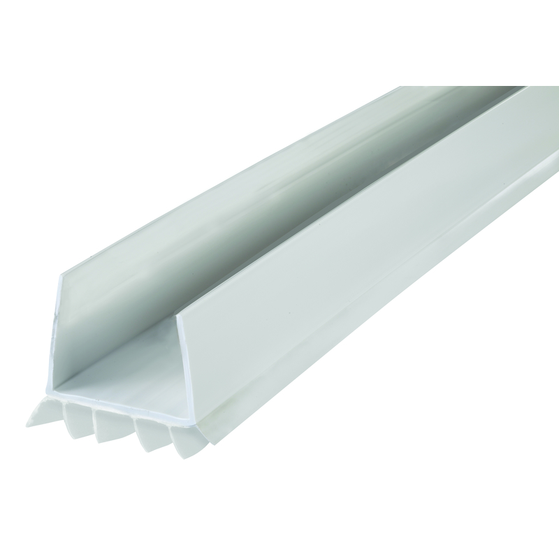M D Building Products White Vinyl 3 Ft. L X 1 3/4 In