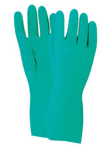 Handmaster  Unisex  Indoor/Outdoor  Nitrile  Chemical  Safety Gloves  Green  M