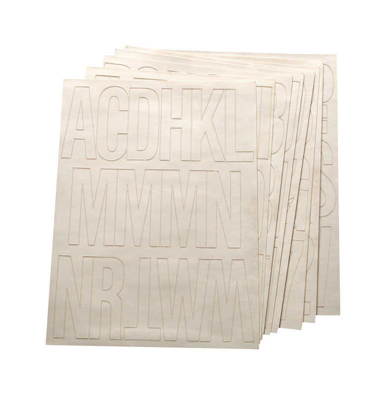 Hy-Ko  3 in. 0-9, A-Z  Letters and Numbers  Self-Adhesive  White  Vinyl
