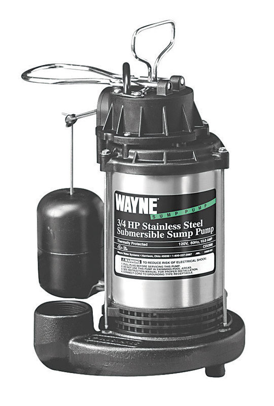 Wayne  3/4 hp 5673 gph Stainless Steel  Submersible Sump Pump