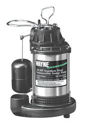 Wayne  3/4 hp 5,673 gph Stainless Steel  Vertical Float Switch  AC  Sump Pump