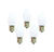 Holiday Bright Lights  C7  White  25 count Christmas Light Bulbs  1 ft.