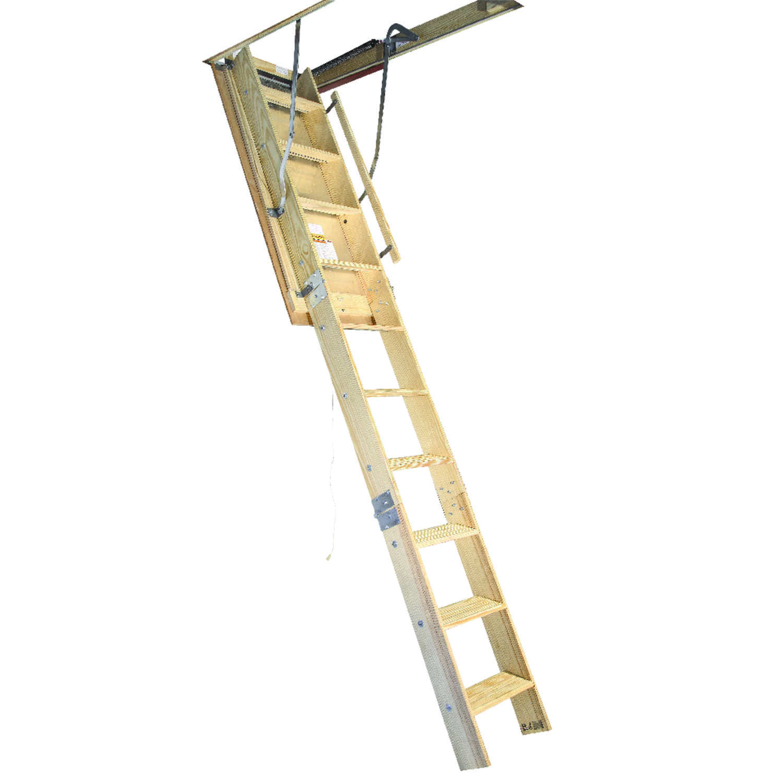 Louisville 8 9 Ft H X 22 5 In W Wood Attic Ladder Type 1