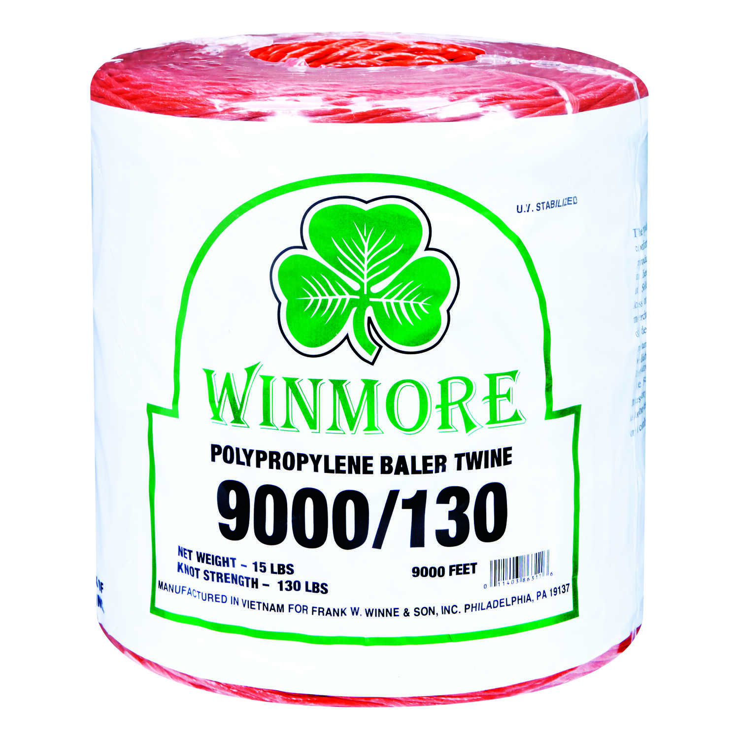 Winmore  9000 ft. L Orange  Poly  Twine