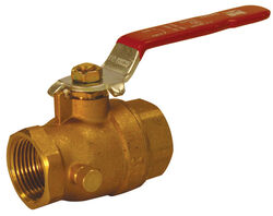 B&K  ProLine  1 in. Brass  Threaded  Ball Valve  Full Port