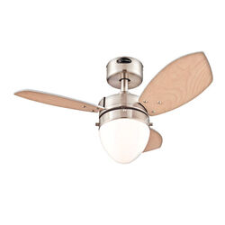 Westinghouse  Hayden  30 in. Brushed Nickel  Indoor  Ceiling Fan