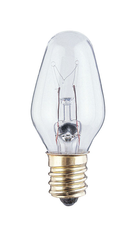 Westinghouse  7 watts C7  Incandescent Bulb  43 lumens White  4 pk Speciality