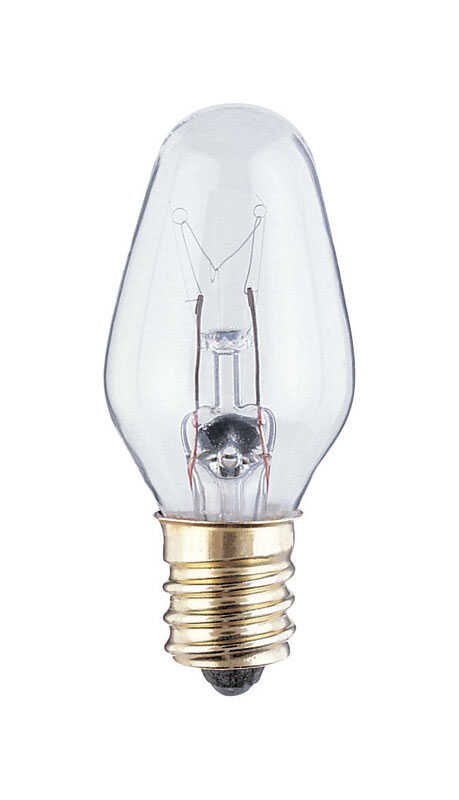 Westinghouse  7 watts C7  Incandescent Bulb  43 lumens White  Speciality  4 pk