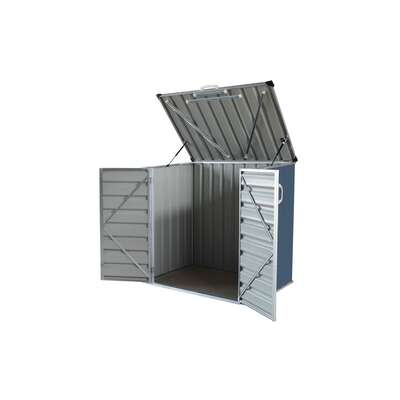 Build-Well  Gray  Metal  Storage Shed