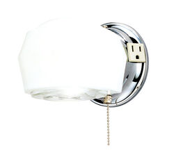 Westinghouse  1-Light  Chrome  White  Wall Sconce