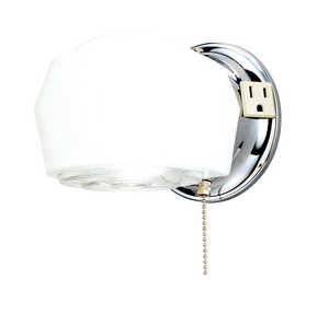 Westinghouse  Chrome  White  1  Wall Sconce