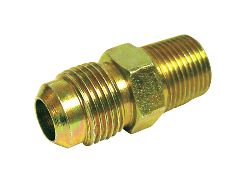 JMF  3/8 in. MPT  Dia. x 1/4 in. FPT  Dia. Brass  Flare Connector