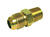 JMF  1/4 in. Flare   x 3/8 in. Dia. MPT  Brass  Connector