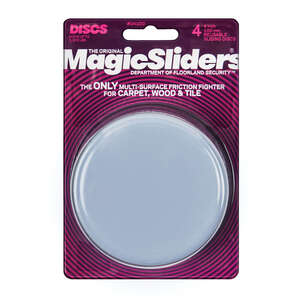 Magic Sliders  Plastic  Floor Slide  Gray  Round  4 in. W x 4 in. L 4 pk Self Adhesive