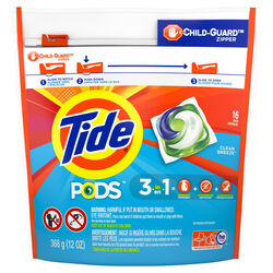 Tide  Clean Breeze Scent Laundry Detergent  Pod  14 oz.