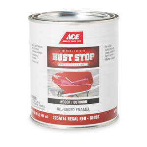 Ace  Rust Stop  Indoor and Outdoor  Gloss  Regal Red  Rust Prevention Paint  1 qt. Interior/Exterior