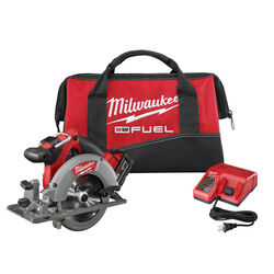 Milwaukee  18 volt 6-1/2 in. Cordless  Brushless  Circular Saw  Kit (Battery & Charger)
