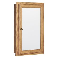 Continental Cabinets  25.75 in. H x 15.75 in. W x 4.75 in. D Rectangle  Oak  Medicine Cabinet/Mirror