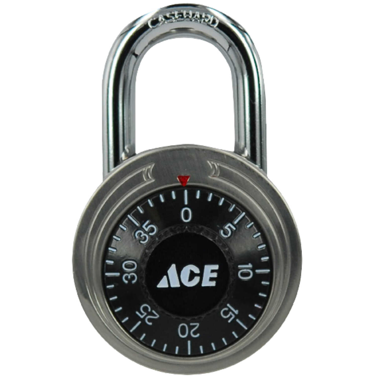 Ace  1-7/8 in. W x 3/4 in. L x 1-7/8 in. H Stainless Steel  Single Locking  Combination Padlock  1 p