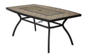 Living Accents  Brown  Cayman  Rectangular  Dining Table