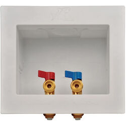 SharkBite  1/2 in. Washing Machine  3/4 in. Dia. x Push Fit   GHT  Washing Machine Outlet Box  Brass