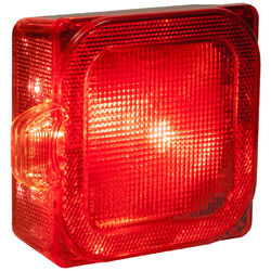 Peterson  Red  Square  License/Stop/Tail  Light