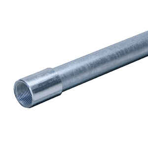 Allied Moulded  1-1/4 in. Dia. x 10 ft. L Galvanized Steel  Electrical Conduit  For Rigid