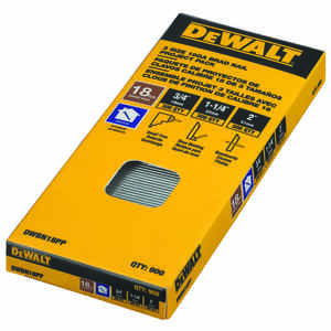 DeWalt  18 Ga.  x 3/4 in. L Steel  Brad Nail Assortment  900 pk 6 lb.