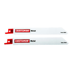 Craftsman  6 in. Bi-Metal  Reciprocating Saw Blade  18 TPI 2 pk