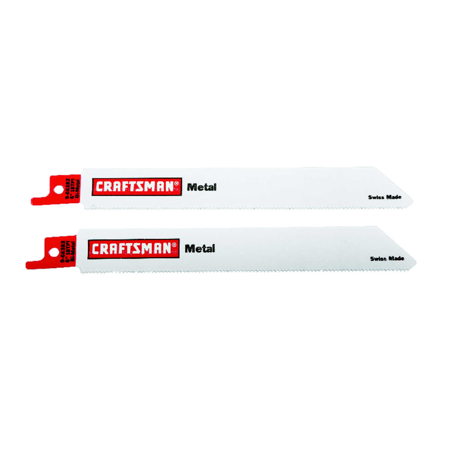 Craftsman  6 in. L x .5 in. W Bi-Metal  Reciprocating Saw Blade  18 TPI 2 pk