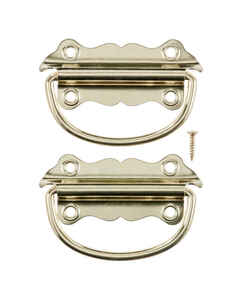 Ace  Bright  Brass  3-1/2 in. 2 pk Chest Handle