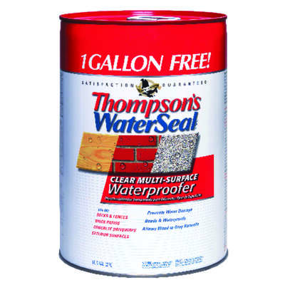 Thompson's Waterseal Smooth Clear Water-Based Multi-Surface Waterproofer 6 gal.