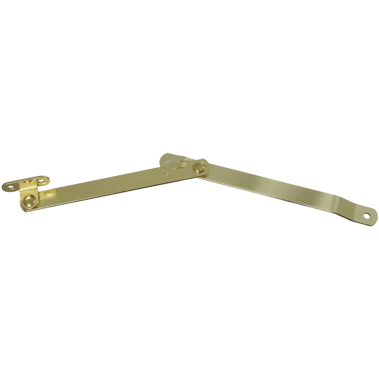 National Hardware Brass-Plated Steel Left Hand Folding Support 1 pk 6 in.