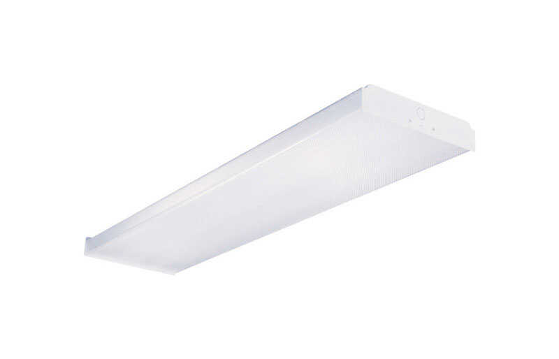 Metalux  WN  32 watts 2 lights Fluorescent Wraparound Light Fixture  48 in.
