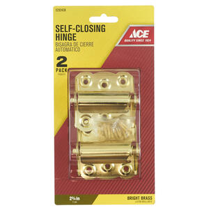Ace  2-3/4 in. L Bright Brass  Screen/Storm Self Closing Hinge  2 pk