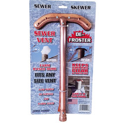 Sewer Skewer 17 in. L Copper Sewer Vent Defroster