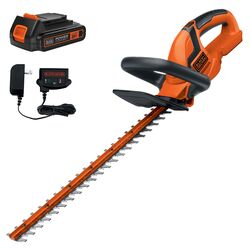 Black and Decker 22 in. 20 volt Battery Hedge Trimmer Kit (Battery & Charger)