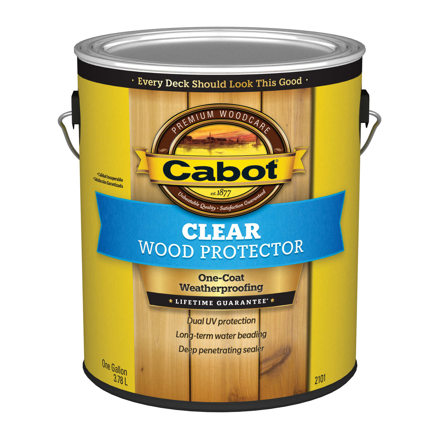 Cabot  Transparent  2101 Clear  Water-Based  Penetrating Waterborne  Wood Protector  1 gal.