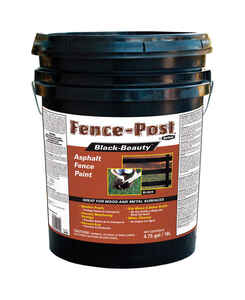 Black Beauty  Gloss  Black  Asphalt  Asphalt Fence Paint  5 gal.