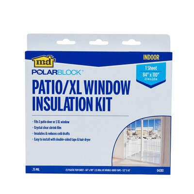 M-D  Shrink & Seal  Clear  Indoor  Patio Door Insulator Kit  84 in. W x 110 in. L