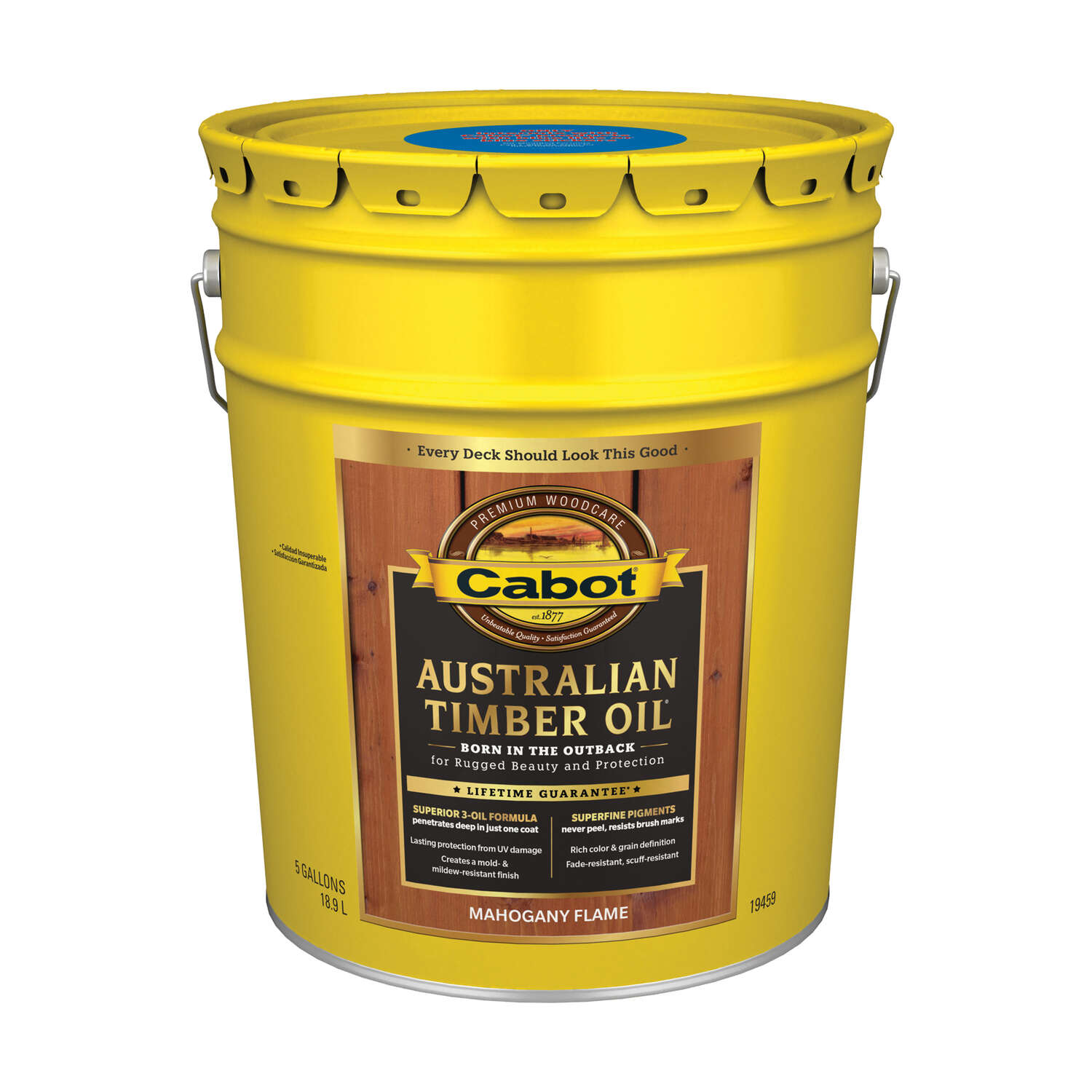 Cabot  Semi-Transparent  Mahogany Flame  Oil-Based  Alkyd  Australian Timber Oil  5 gal.