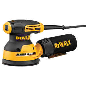 DeWalt  5 in. Corded  Variable Speed  Random Orbit Sander  Kit 3 amps 12000 opm Yellow