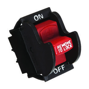 Jandorf  20 amps Single Pole  Rocker  Power Tool Switch  Black/Red  1 pk