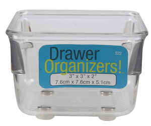 InterDesign  3 in. H x 3 in. W x 2 in. L Clear  Plastic  Drawer Organizer