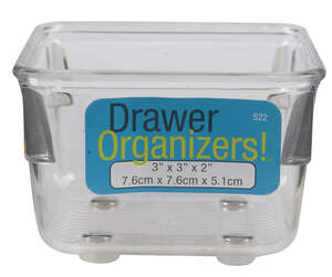 InterDesign  3 in. H x 2 in. L x 3 in. W Plastic  Drawer Organizer  Clear