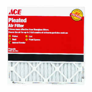 Ace  20 in. W x 30 in. H x 1 in. D 8 MERV Pleated Air Filter