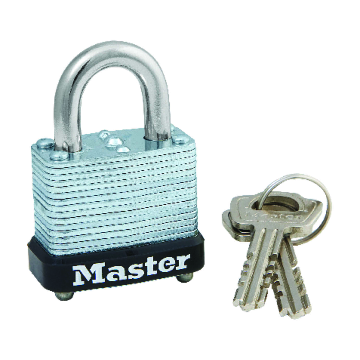 Master Lock  3/4 in. W x 1-1/8 in. L x 1-1/16 in. H Laminated Steel  Warded Locking  Padlock  1 each